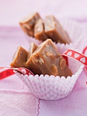 Caramel sweets with peanut butter