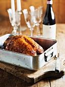 Glazed roast duck