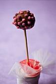 A chocolate cake pop
