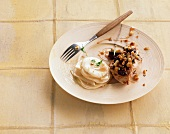 Pheasant breast with a quince and cocoa crust and creamy parsnips