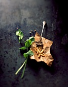 Pine nuts, coriander and cardamom