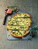 Leek tart with bacon