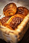 Fresh pastries in a basket