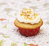 Buttered Popcorn Cupcake Topped with Popcorn