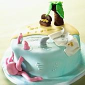 An island cake