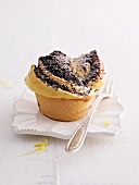 A poppy seed cupcake