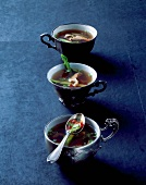 Three cups of veal consomme