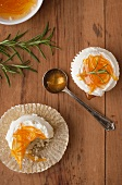 Orange Marmalade Rosemary Cupcakes