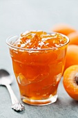 A jar of apricot jam