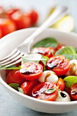 Tomato salad with mozzarella, basil and balsamic vinaigrette