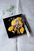 Pumpkin gnocchi with wild mushrooms and Parmesan