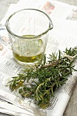 Rosemary and olive oil for barbecuing