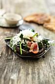 Champignon-Raclette mit Bacon