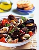 Zuppetta di cozze e vongole (simple mussel soup, Italy)