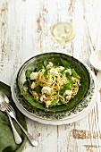 Pea, mint and ricotta pasta