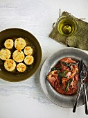 Gnocchi alla Romana mit Saltimbocca (Italien)