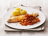 Trout with parsley potatoes and tomatoes