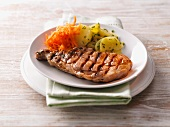 Grilled pork chopped, Saarland