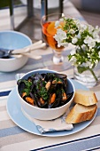 Mussels in cider sauce
