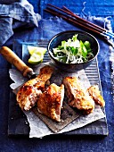 Aromatic kaffir chicken with a rice noodle salad