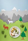 Pellkartoffeln mit Ziegenkäse