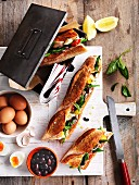 Baguettesandwiches mit Thunfisch-Nizzasalat