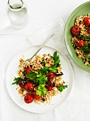 Couscous salad with roasted tomatoes and chermoula (Israel)