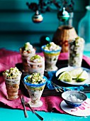 Kingfish ceviche with young coconut and lime