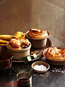 Rabbit and red wine pot pies