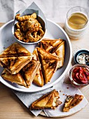 Jaffles (toasted sandwiches, Australia) with pork