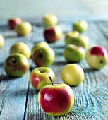 Crab Apples on a Wooden Table