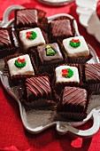 A Tray of Christmas Chocolates