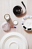 Stucco, glue and Velcro tape