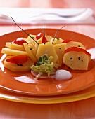 Potato and tomato salad with yoghurt sauce