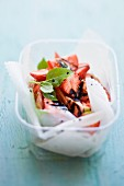 Strawberry & tomato salad with balsamic vinegar