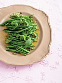 Green bean salad with mint
