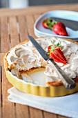 Rhubarb meringue tart