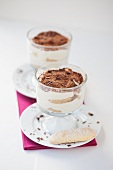 Tiramisù nel bicchiere (a layered dessert with mascarpone cream)