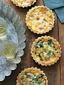 Mini Quiche Lorraine and Spinach and Blue Cheese Quiches