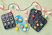 Cupcake Fairy Lights and baking trays