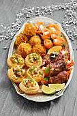 Platter of Christmassy appetisers