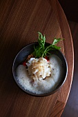 Spelt risotto with foam