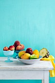 Fruit bowls on a table