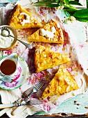 Orange & semolina cake with almonds