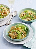 Iceberg lettuce with apricot chicken