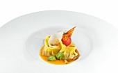 Ravioli in a white dish