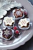 Festive, star-shaped chocolates