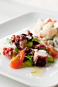 Octopus salad with tomatoes