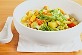 Vegetable curry in a bowl