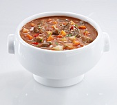 Goulash soup with carrots and peppers